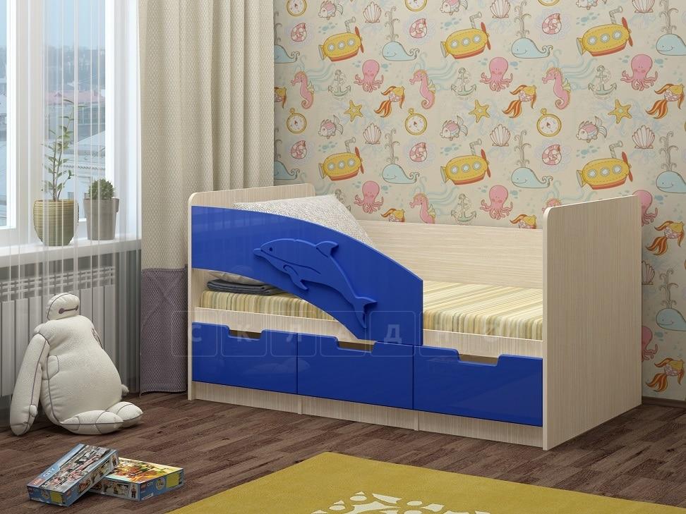 Детская кровать Дельфин-6 мдф 180см фото 8 | интернет-магазин Складно