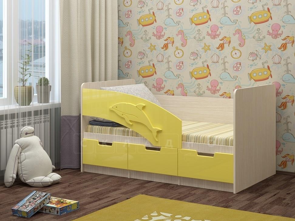 Детская кровать Дельфин-6 мдф 180см фото 9 | интернет-магазин Складно