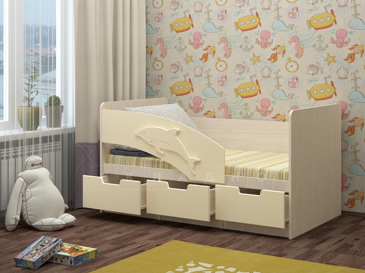 Детская кровать Дельфин-6 мдф 180см фото 4 | интернет-магазин Складно