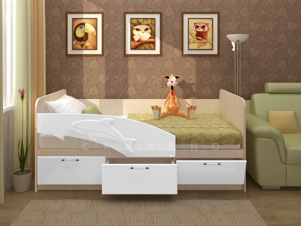 Детская кровать Дельфин 160см фото 3 | интернет-магазин Складно