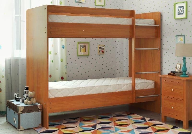 Двухъярусная кровать ЛДСП без ящиков фото 1 | интернет-магазин Складно