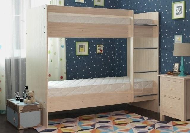 Двухъярусная кровать ЛДСП без ящиков фото 2 | интернет-магазин Складно