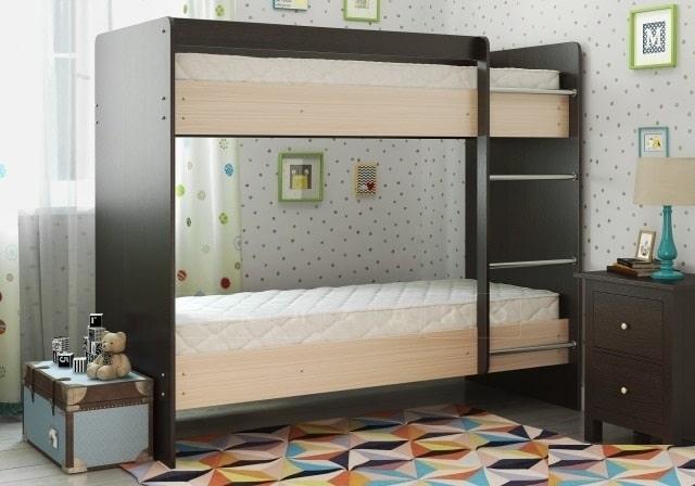 Двухъярусная кровать ЛДСП без ящиков фото 3 | интернет-магазин Складно