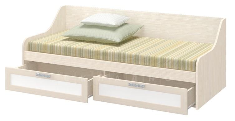 Детская кровать ДЮ-01 с ящиками, рамочный фасад фото 2 | интернет-магазин Складно