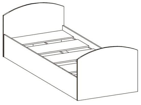Детская кровать Юниор-2 фото 7 | интернет-магазин Складно