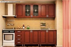 Кухонный гарнитур Кариба 2,0м итальянский орех фото | интернет-магазин Складно