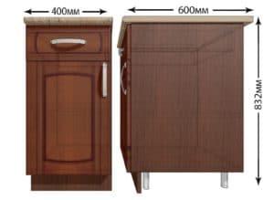 Кухонный шкаф напольный Кариба ШН1Я40 с 1 ящиком фото   интернет-магазин Складно