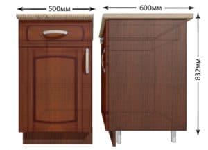 Кухонный шкаф напольный Кариба ШН1Я50 с 1 ящиком фото   интернет-магазин Складно