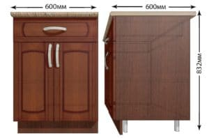 Кухонный шкаф напольный Кариба ШН1Я60 с 1 ящиком фото   интернет-магазин Складно