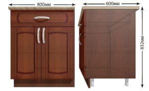 Кухонный шкаф напольный Кариба ШН1Я80 с 1 ящиком фото   интернет-магазин Складно