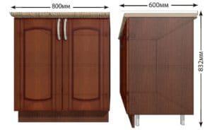 Кухонный шкаф напольный Кариба ШН80 фото | интернет-магазин Складно
