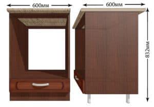 Кухонный шкаф под встраиваемую духовку Кариба ШНД60 фото | интернет-магазин Складно