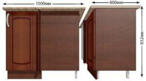Кухонный шкаф напольный угловой Кариба ШНУ100 фото   интернет-магазин Складно