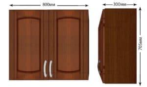 Кухонный навесной шкаф Кариба ШВ80 фото | интернет-магазин Складно
