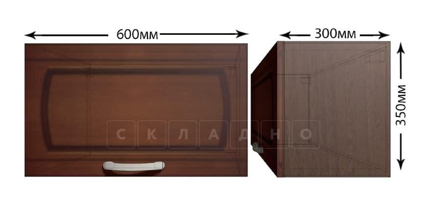 Кухонный навесной шкаф над плитой под вытяжку Кариба ШВГ60 фото 1   интернет-магазин Складно