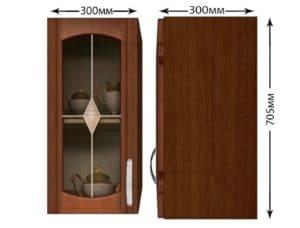 Кухонный навесной шкаф со стеклом Кариба ШВС30 фото | интернет-магазин Складно