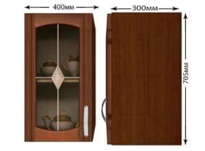 Кухонный навесной шкаф со стеклом Кариба ШВС40 фото | интернет-магазин Складно