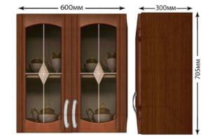 Кухонный навесной шкаф со стеклом Кариба ШВС60 фото | интернет-магазин Складно