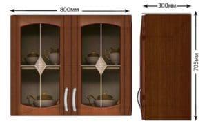 Кухонный навесной шкаф со стеклом Кариба ШВС80 фото | интернет-магазин Складно