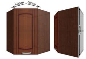 Кухонный навесной шкаф угловой Кариба ШВУ60 фото | интернет-магазин Складно
