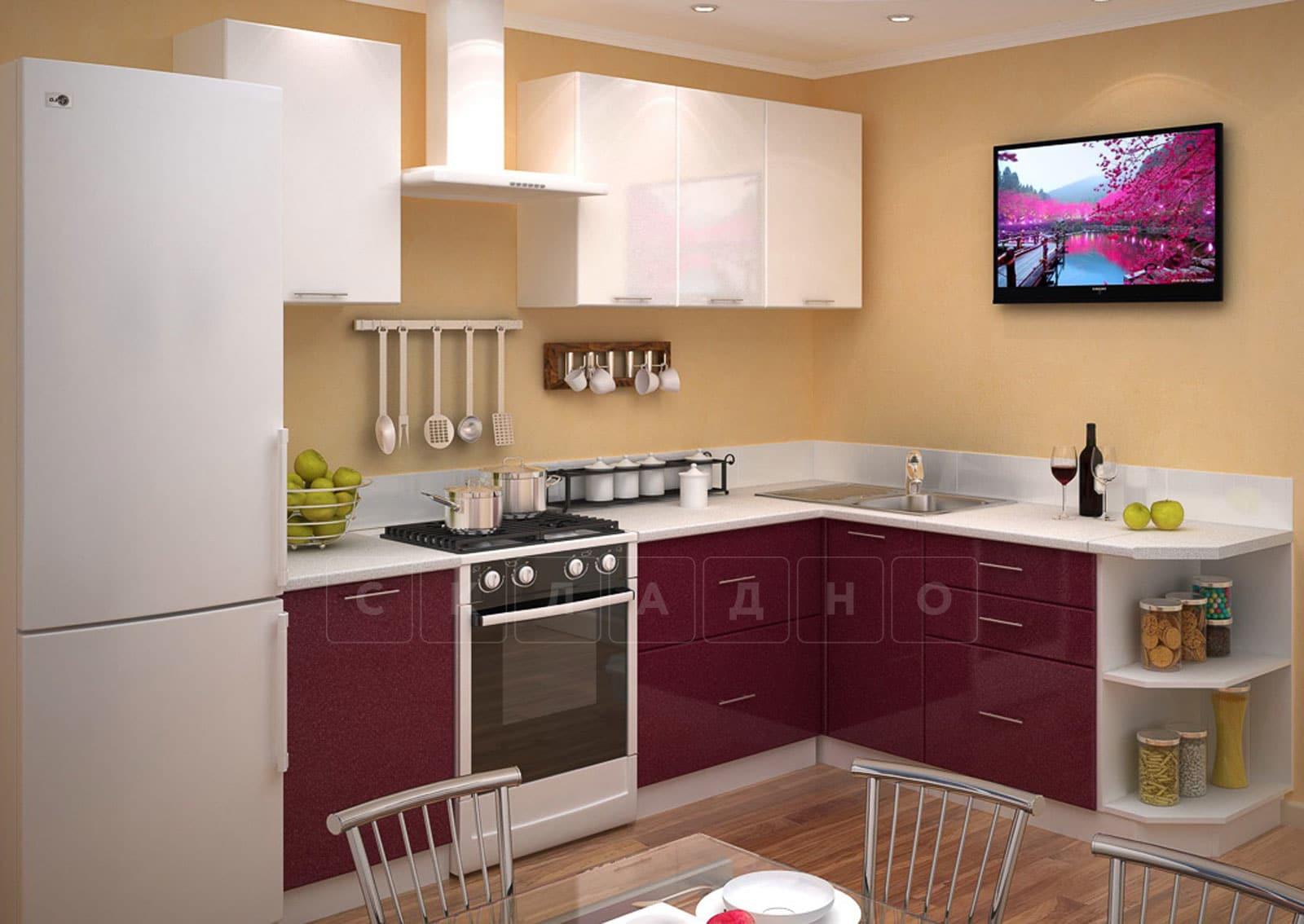 Кухня угловая Шарлотта 1,9х1,8м гламур с белым фото 1 | интернет-магазин Складно