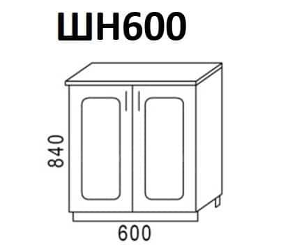 Кухонный шкаф напольный Венеция ШН60 фото 1 | интернет-магазин Складно