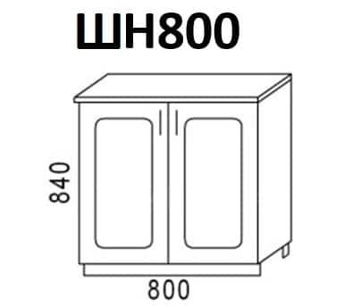 Кухонный шкаф напольный Венеция ШН80 фото 1 | интернет-магазин Складно