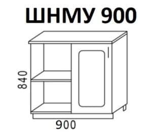 Кухонный шкаф напольный угловой Венеция ШНМУ90 фото | интернет-магазин Складно