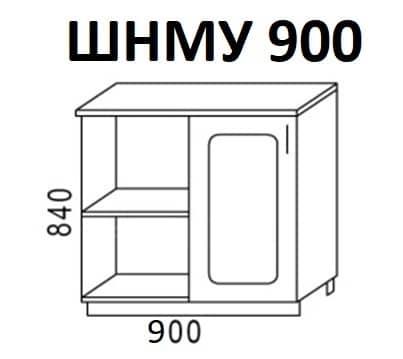Кухонный шкаф напольный угловой Венеция ШНМУ90 фото 1 | интернет-магазин Складно