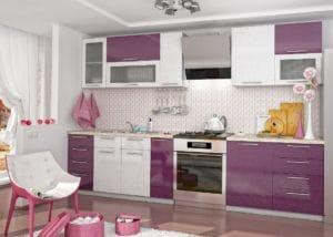 Кухонный гарнитур Шарлотта Гламур 2,5 м  37530  рублей, фото 1 | интернет-магазин Складно