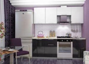 Кухонный гарнитур Шарлотта черно-белый 2,1м фото | интернет-магазин Складно