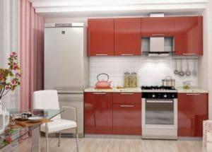Кухонный гарнитур Шарлотта гранат 2,1м фото | интернет-магазин Складно