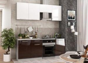 Кухонный гарнитур Шарлотта Асти шоколад 2,1м фото | интернет-магазин Складно