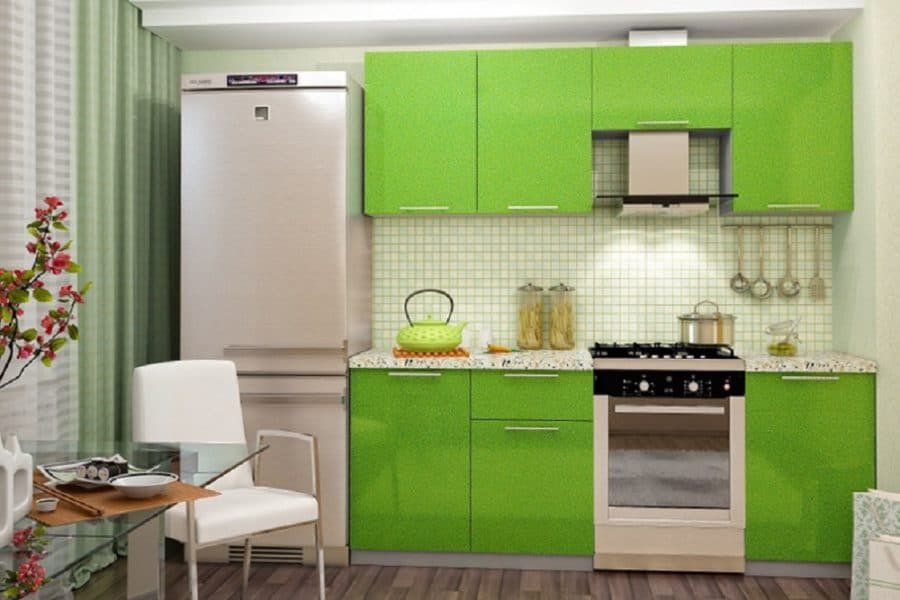 Кухонный гарнитур Шарлотта салат 2,1м фото | интернет-магазин Складно
