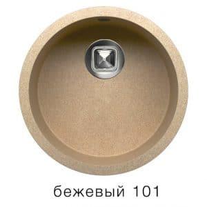 Кухонная мойка TOLERO R-104 кварцевая круглая  4900  рублей, фото 1 | интернет-магазин Складно