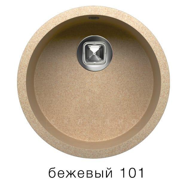 Кухонная мойка TOLERO R-104 кварцевая круглая фото 1 | интернет-магазин Складно