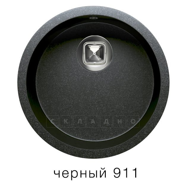 Кухонная мойка TOLERO R-104 кварцевая круглая фото 7 | интернет-магазин Складно