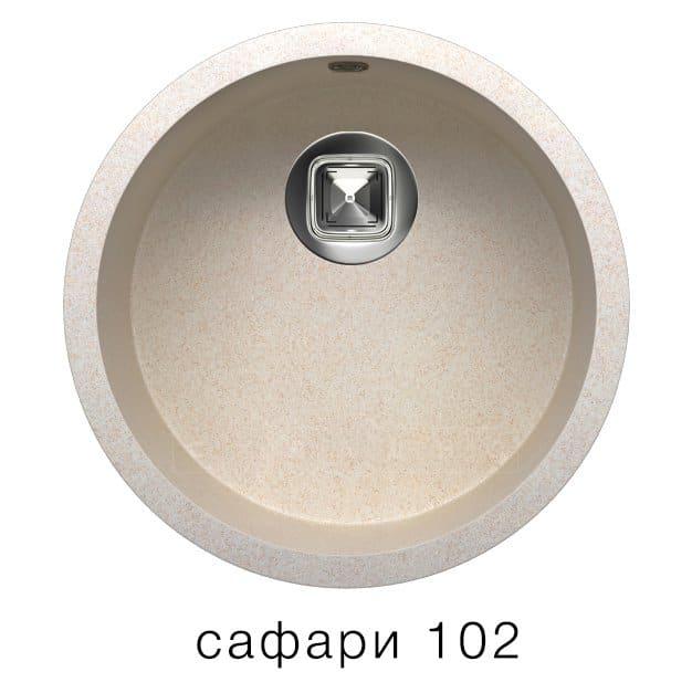 Кухонная мойка TOLERO R-104 кварцевая круглая фото 3 | интернет-магазин Складно