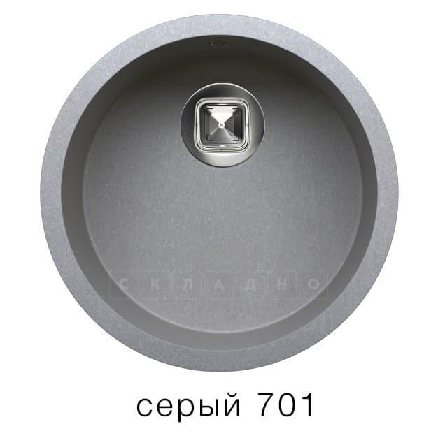 Кухонная мойка TOLERO R-104 кварцевая круглая фото 4 | интернет-магазин Складно
