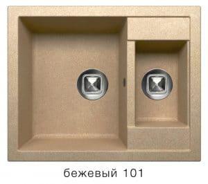 Кухонная мойка TOLERO R-109 кварцевая 62х50 см две чаши  8900  рублей, фото 1   интернет-магазин Складно
