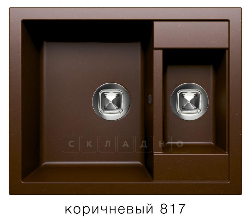 Кухонная мойка TOLERO R-109 кварцевая 62х50 см две чаши фото 5   интернет-магазин Складно