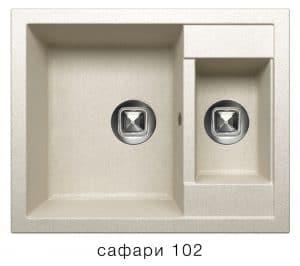 Кухонная мойка TOLERO R-109 кварцевая 62х50 см две чаши 8900 рублей, фото 3   интернет-магазин Складно