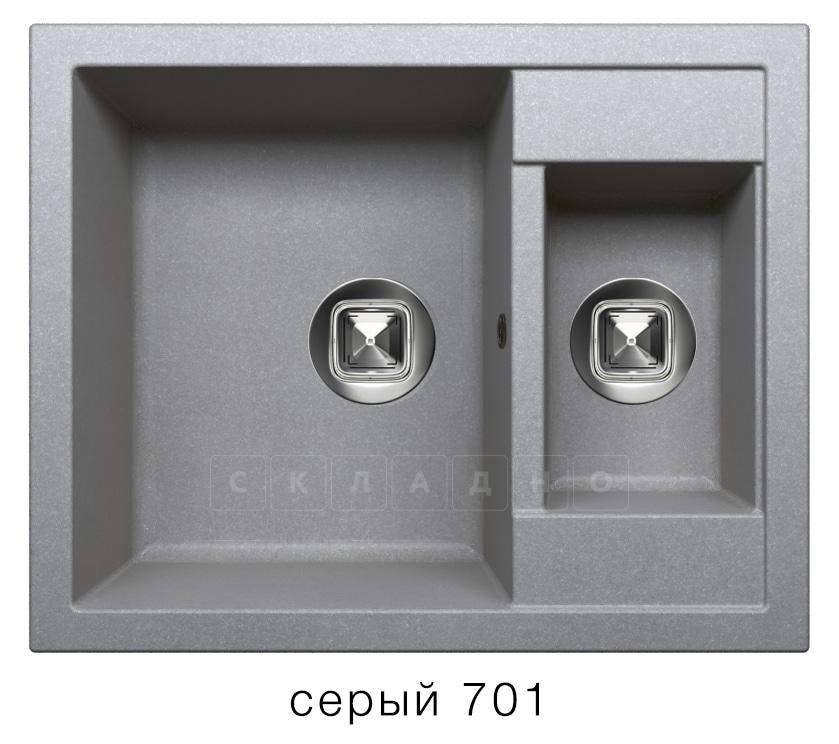 Кухонная мойка TOLERO R-109 кварцевая 62х50 см две чаши фото 4   интернет-магазин Складно