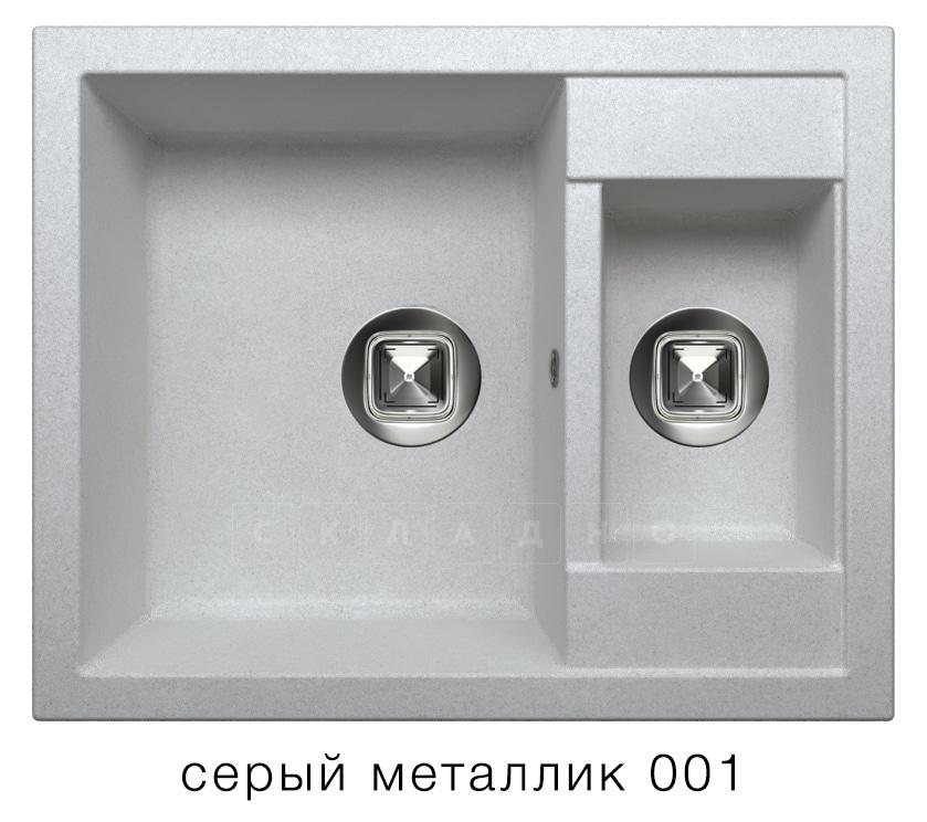 Кухонная мойка TOLERO R-109 кварцевая 62х50 см две чаши фото 2   интернет-магазин Складно