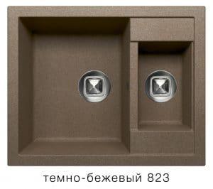 Кухонная мойка TOLERO R-109 кварцевая 62х50 см две чаши 8900 рублей, фото 6   интернет-магазин Складно