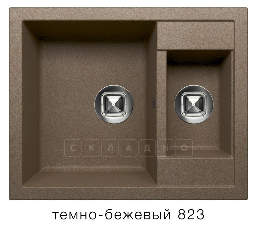 Кухонная мойка TOLERO R-109 кварцевая 62х50 см две чаши фото 6   интернет-магазин Складно