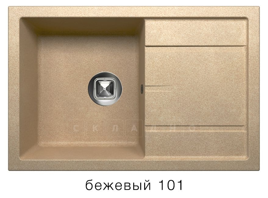 Кухонная мойка TOLERO R-112 кварцевая 76х51 см фото 1 | интернет-магазин Складно