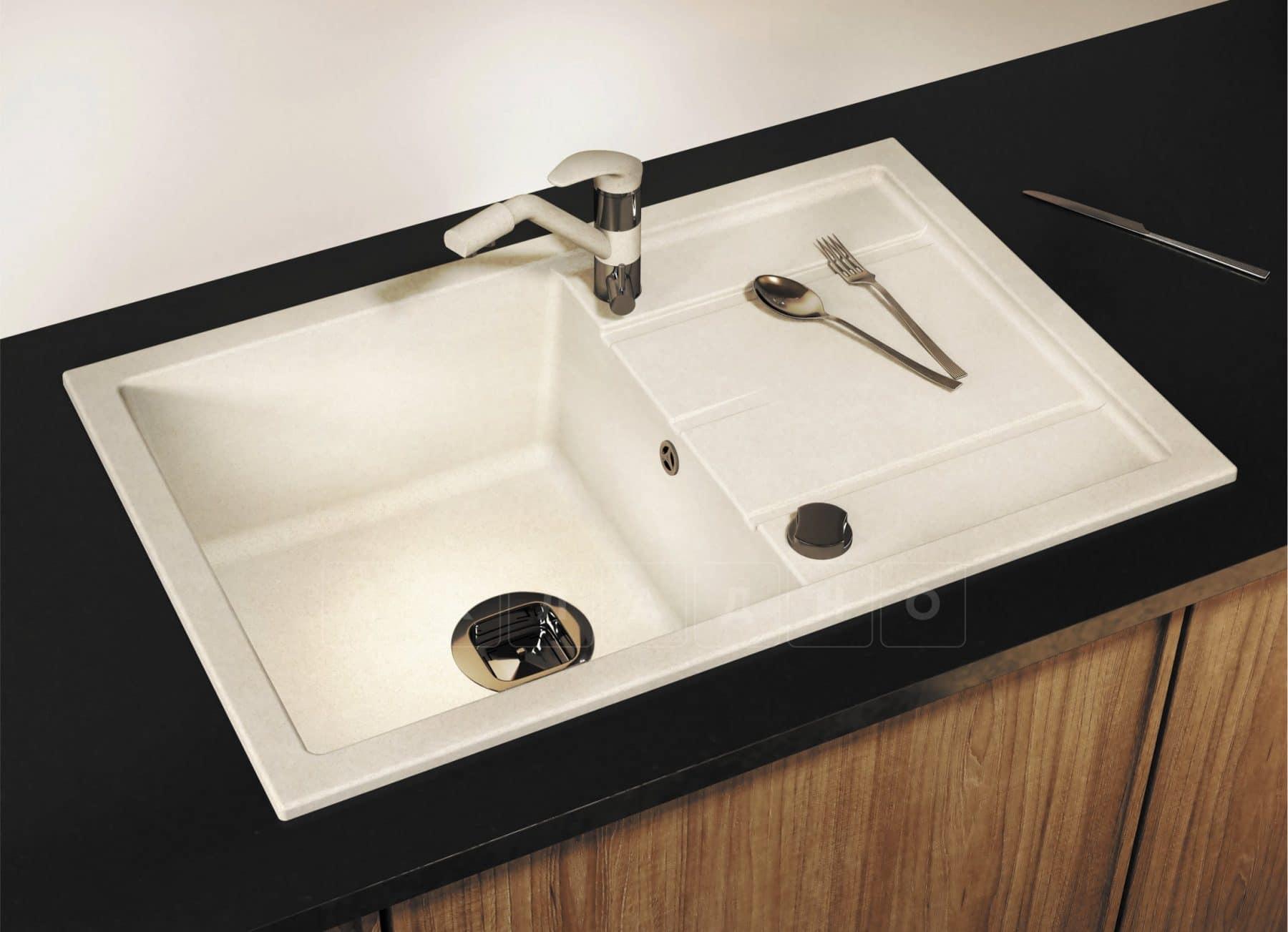 Кухонная мойка TOLERO R-112 кварцевая 76х51 см фото 10 | интернет-магазин Складно