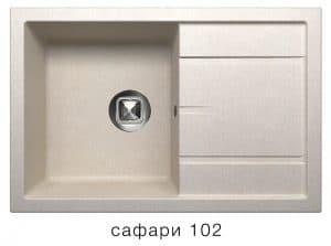 Кухонная мойка TOLERO R-112 кварцевая 76х51 см 9100 рублей, фото 3 | интернет-магазин Складно