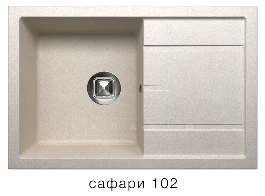 Кухонная мойка TOLERO R-112 кварцевая 76х51 см фото 3 | интернет-магазин Складно